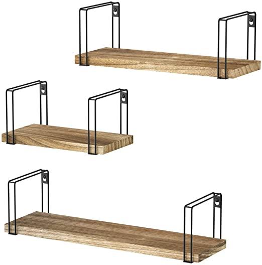 Amazon.com: SRIWATANA Rustic Floating Shelves, Wood Wall Shelves .
