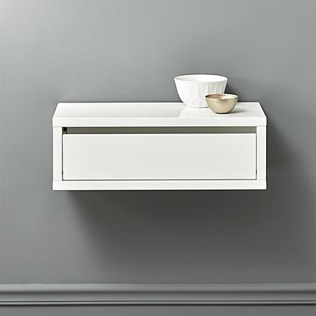Slice White Wall Mounted Shelf + Reviews | C