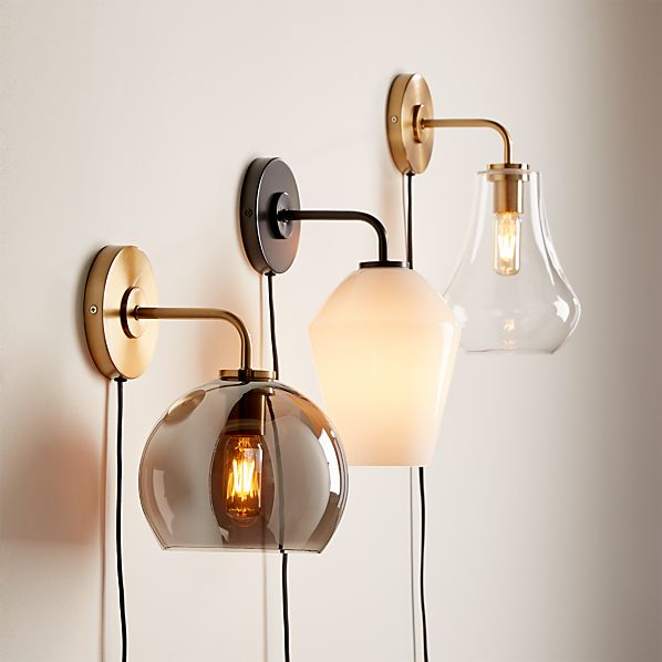 Arren Wall Sconces with Shades | Crate and Barr