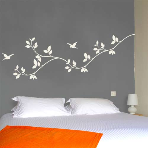 Wall stickers for bedroom - large and beautiful photos. Photo to .