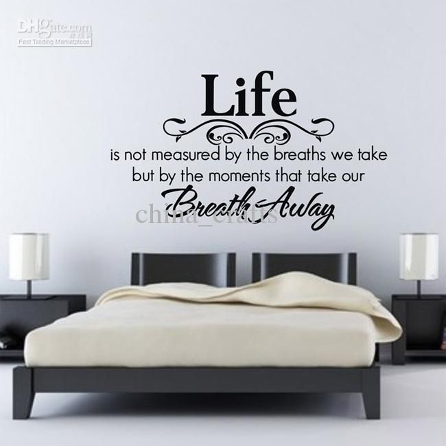 Beautiful bedroom wall art stickers | Wall decals for bedroom .