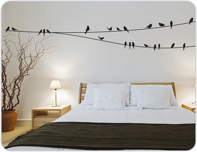 Birds on a Wire Wall Stickers | Wall decals for bedroom, Bedroom .