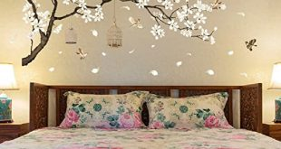 Amazon.com: Amaonm Chinese Style White Flowers Black Tree and .