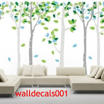 Birch tree Wall Decals Wall stickers Kids from walldecals001