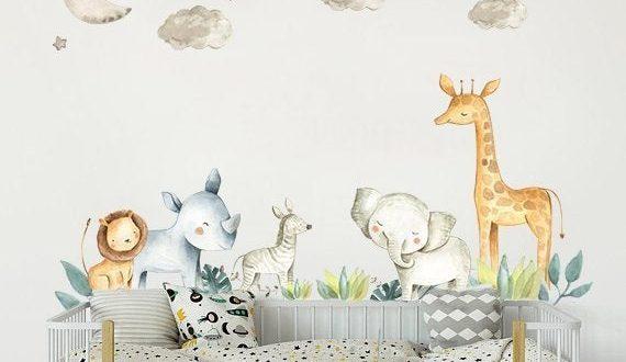 Safari Nursery Decor Wall Stickers Kids Wall Decal Baby boy | Et