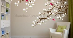 Living room wall decals - Cherry blossom decal - Cherry blossom .