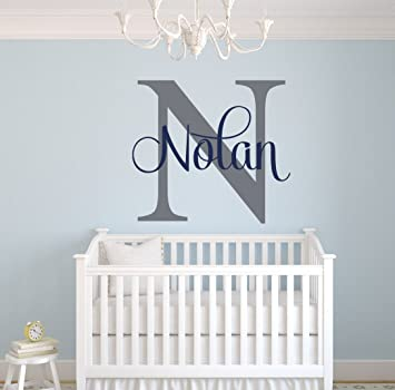 Amazon.com: Custom Name Monogram Wall Decal - Nursery Wall Decals .