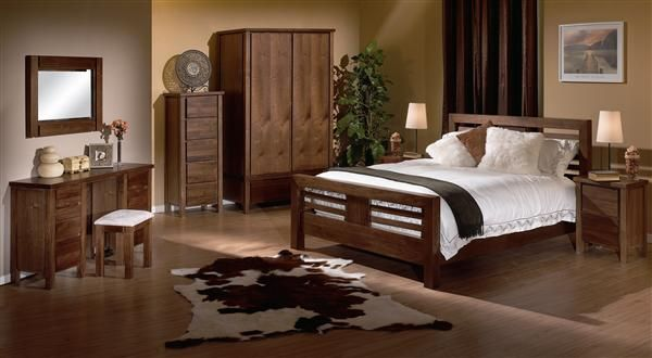 Combine walnut bedroom furniture with interior decor in 2020 .