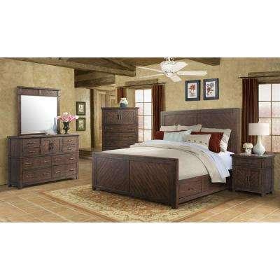 Walnut - Wood - Bedroom Sets - Bedroom Furniture - The Home Dep