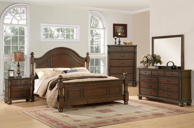 Augusta Traditional Walnut Finish Bedroom Furniture Set|Free .