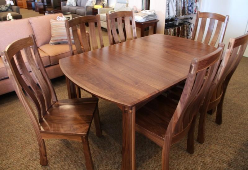 Custom Walnut Dining Set | Walnut Dining Table | PA Amish .