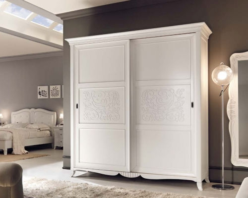 Classic wardrobe / lacquered wood / sliding door - ART. 6098 .