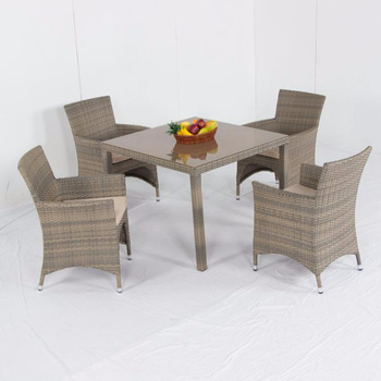 Weatherproof Outdoor Rattan Patio 4 Seater Garden Furniture Dining .
