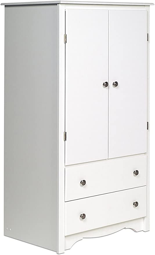 Amazon.com: Prepac White Monterey 2 Door Armoire: Kitchen & Dini
