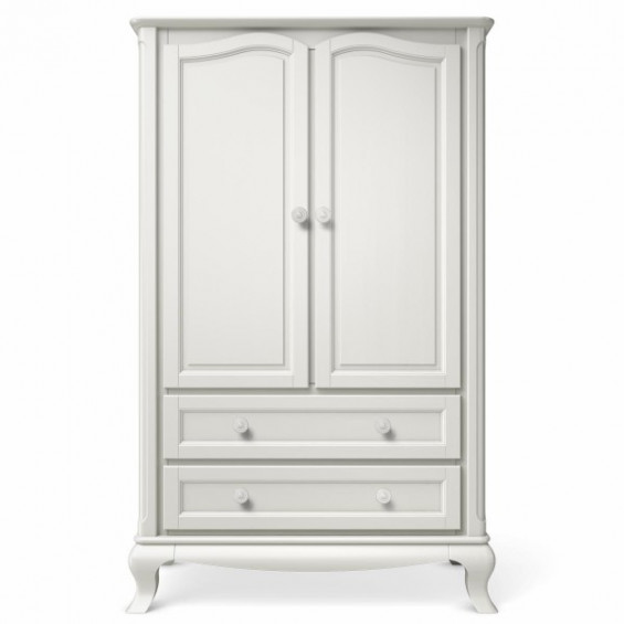 Romina Cleopatra Collection Armoire in Solid White - Armoires .