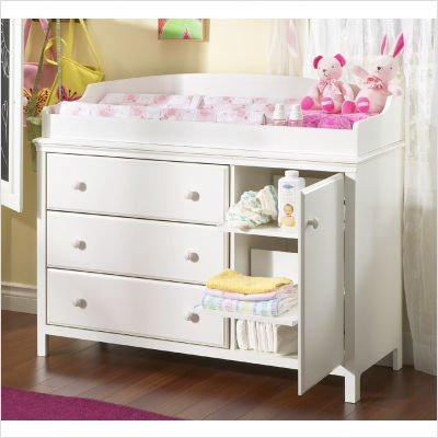 Transitional Style Pure White Finish Changing Table – Best Cribs .