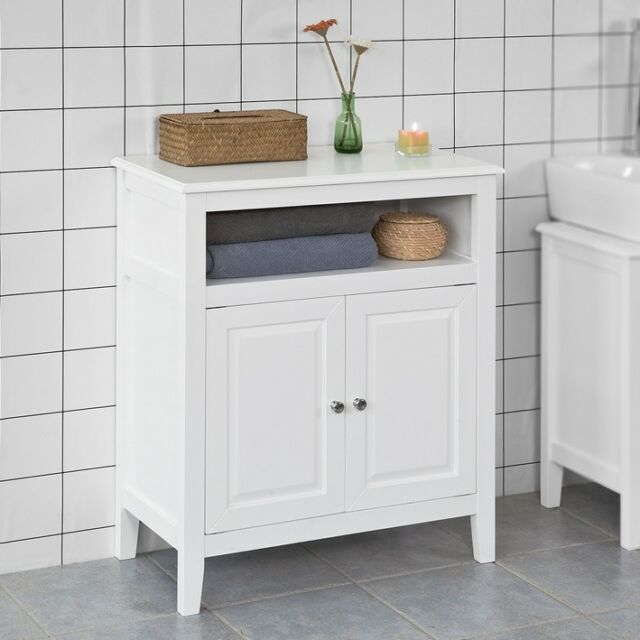 Dark Bathroom Cabinets: White Storage Cabinet For Bathro
