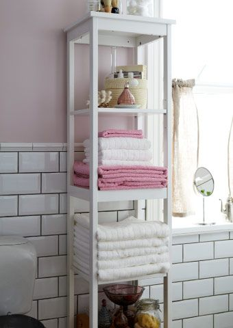 White Bathroom Storage Unit