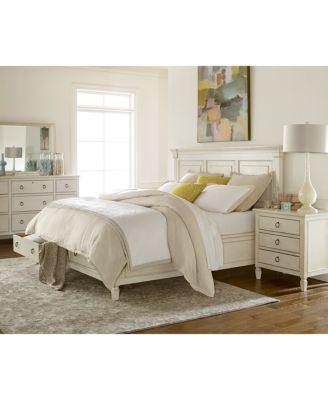 Furniture Sag Harbor White Storage Bedroom Furniture Collection .
