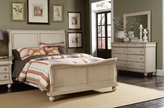 Sleigh Bed Furniture Set | White Sleigh Bedroom Furnitu