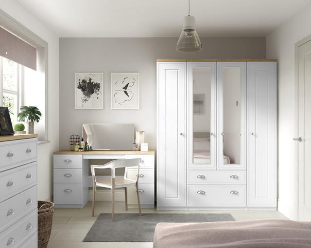 Ready Assembled Venice White Wardrobe Drawers Complete Bedroom .