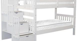 Bunk Beds Twin Stairway White $729 | Bunk Bed Ki