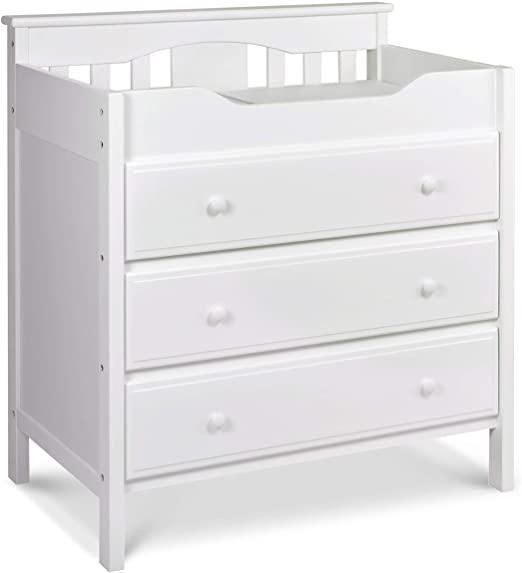 Amazon.com : Jayden 3 Drawer Changer Dresser in White : Changing .