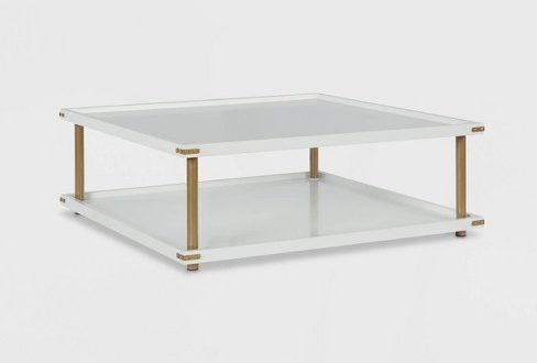 Volta Square Coffee Table White - CosmoLiving By Cosmopolitan : Targ