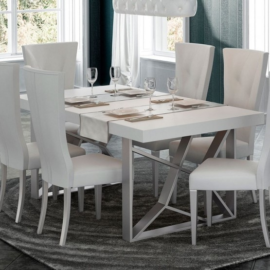 ✅ Kiu Modern Rectangular Dining Table, White by Franco Furniture .
