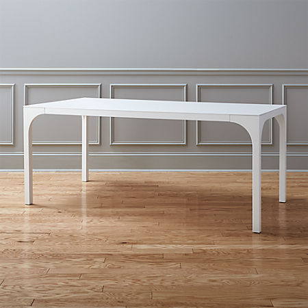 Aqua Virgo White Gloss Dining Table + Reviews | C