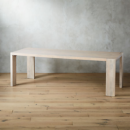 "Blox White Wash Dining Table 35""x91"" + Reviews 