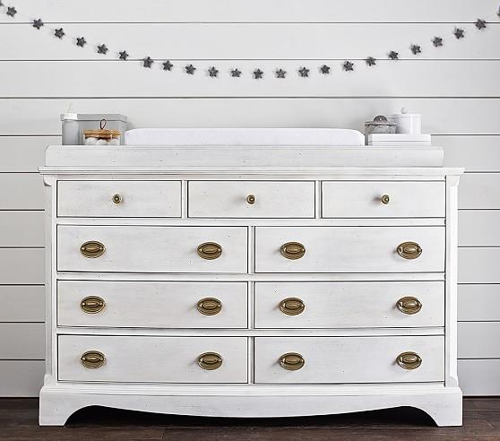 White Extra Wide Changing Table Dress