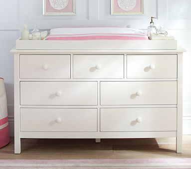 Kendall Extra Wide Nursery Dresser & Topper Set | Changing table .
