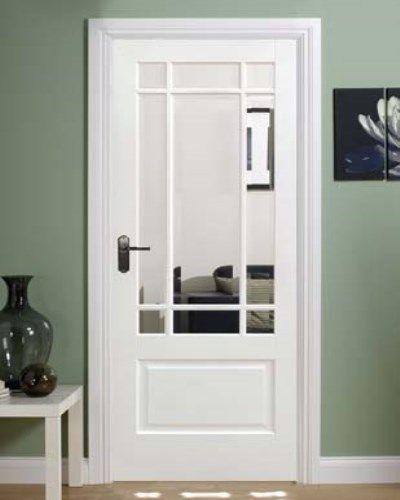 Solid White Downham Internal Door #whitedoors | Internal glass .