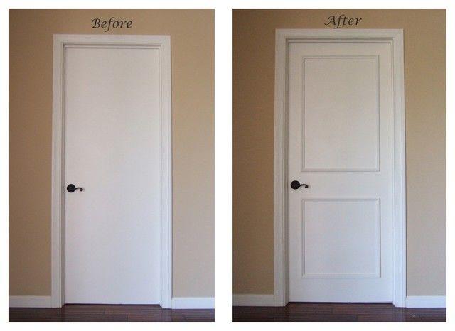 Plain White Interior Doorsinstant Two Panel Raised Door Moulding .