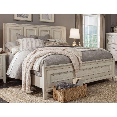 Weathered White King Size Bed - Raelynn   Bedroom sets, Master .