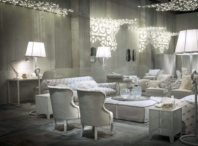 White Living Room Furniture and Decor Ideas by Paola Navone .