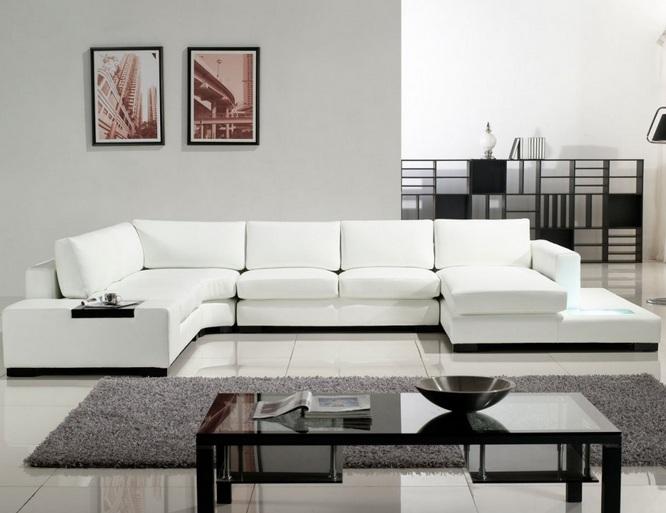 Modern sectional white living room furniture - Decolover.n