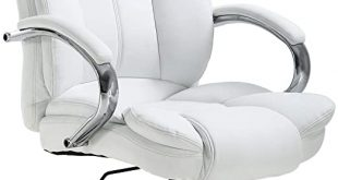 Amazon.com: Ergonomic Office Chair Desk Chair PU Leather Computer .