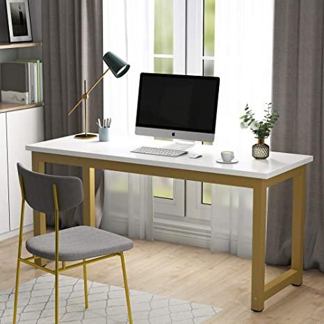 Amazon.com: Tribesigns Computer Desk, 63 inch Large Office Desk .