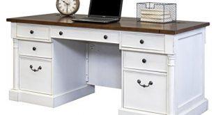 Amazon.com: Martin Furniture Durham Double Pedestal Executive Desk .