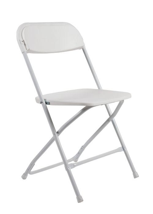 White Plastic Folding Chair (Poly Chair) - The Chiavari Chair Compa