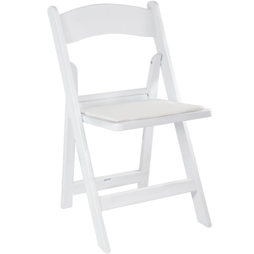 White Resin Folding Chair for Weddings | CTC Event Furnitu