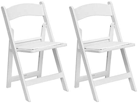 Amazon.com: White Resin Stackable Folding Chairs - Heavy Duty 300 .