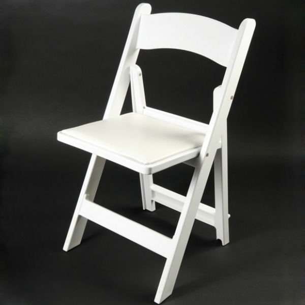 White Resin Folding Chair with Slatted Seat – Her Delighted Hands .