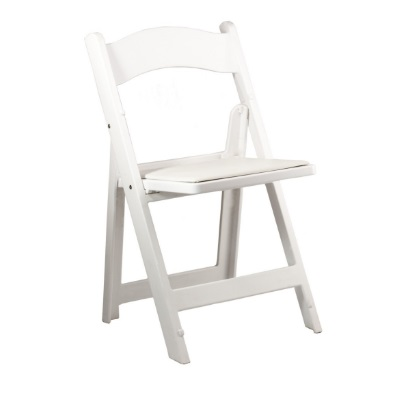 White Resin Folding Chair Rentals - Premiere Events Austin,
