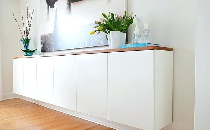 Buffet Cabinet:Remarkable Regarding Long White Sideboard .