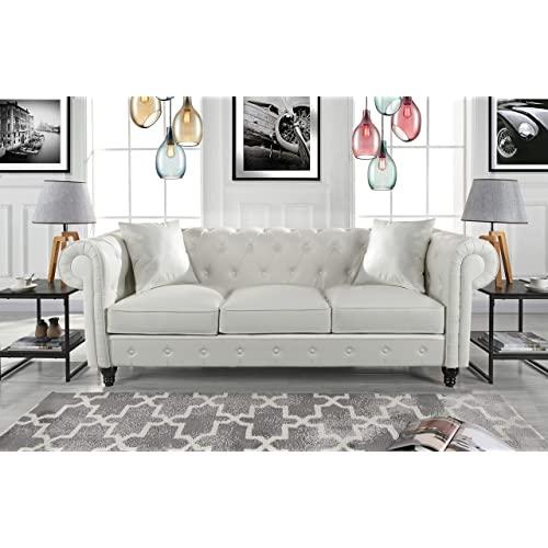 White Tufted Sofa: Amazon.c