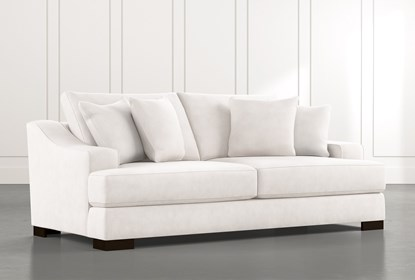 Lodge Foam White Sofa | Living Spac
