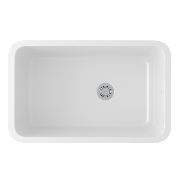 ROHL Kitchen Sinks - Allia Fireclay Single Bowl Undermount Kitchen .